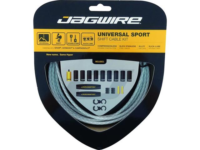 Jagwire Sport Kit Câbles de vitesse universels pour Shimano/SRAM/Campagnolo Tressé, white